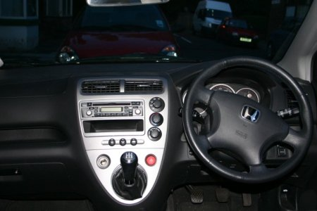 The dash of my '04 Honda Civic